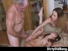 Dad and girl, Teen, Redhead, Group, Share, Jizz, Huge, Old and young, Facial, Babe, Old, Young, Blonde, 3 some, Old man