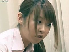 Asian, Uniform, Japanese, Fetish, Cum, Hidden cam, Hidden