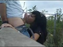 Reality, Handjob, Nature, Public, Outdoor, Cock, Brunette, Amateurs, Sucking