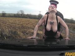 Cumshot, Monster cock, Big cock, Vagina, Oral, High definition, Big tits, Redhead, Sex, Tattoo, Blowjob, Couple, Cum, Caucasian, Outdoor, Car, Tits, Cock, Police