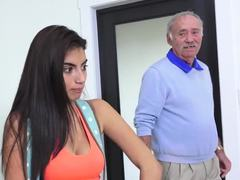 Dad and girl, Teen, Old, Old and young, Old man, Young, Fucking, Blowjob, High definition, Cock, Amateurs, Sucking