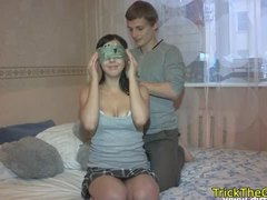 Glamorous babes get tricked and drilled rough
