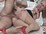 Cumshot, Heels, Glasses, Slut, Office, Fucking, High definition, Bent over, Blowjob, Doggystyle, Big ass, Milf, Rough, At work, Sucking, Shoes, Ass, Cock